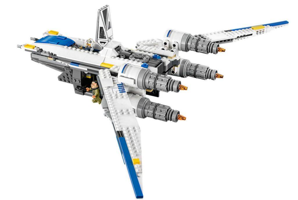 LEGO Rebel U-Wing Fighter 75155 Built Swept back wing configuration
